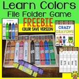 Crayon Color File Folder Game for ESL and Young Learners