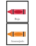Crayon Color Flash Cards in Spanish
