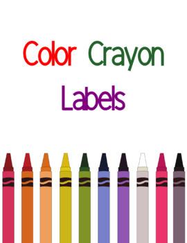 Crayon Color Labels