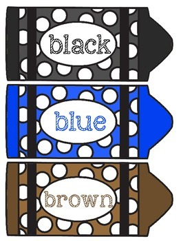 Download Crayon Color Labels FREEBIE by Rockin' in Second   TpT
