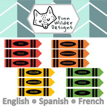 Crayon Color Match - English, Spanish, French