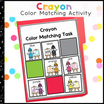 Crayon Color Matching Folder Game for students with Autism