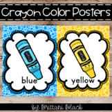 Crayon Color Word Posters