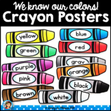 Crayon Color Posters Happy and Bright Classroom Decor