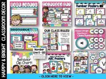 Crayon Color Posters Happy and Bright Classroom Decor