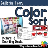 Crayon Color Sort Bulletin Board