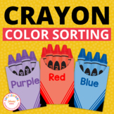 Color Sorting: Interactive Crayon Color Sort Activity for