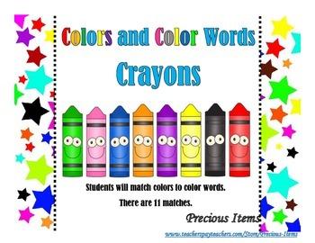 Crayon Color Words