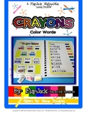 Crayon Color Words MagnetMat Fun