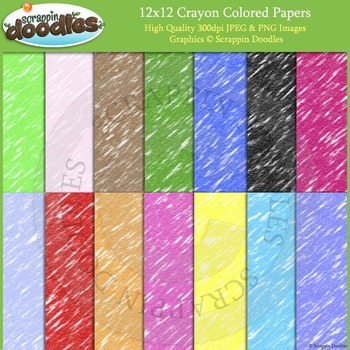 Crayon Colored Backgrounds