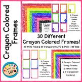 Crayon Colored Page Border Frames