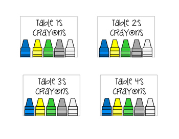 Crayon & Colored Pencil Box Labels