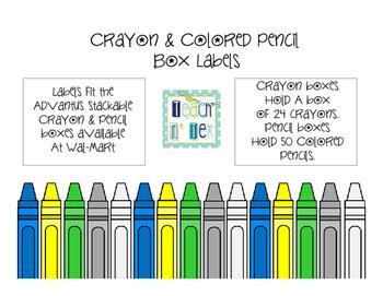 Crayon & Colored Pencil Box Labels
