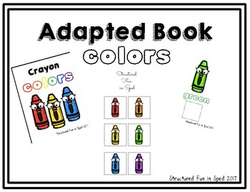 Crayon Colors Adapted Book for Preschool, Pre-K and Special Needs