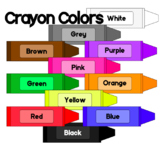 Crayon Colors - Clip Art - FREEBIE - Color Words