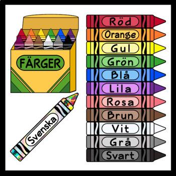 Crayons in Swedish, Norwegian, Danish, Icelandic, and Faroese