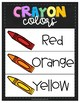 Crayon Colors Word Wall Posters