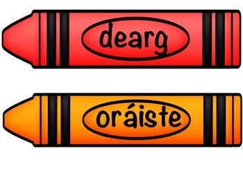 Crayon Colour Posters as Gaeilge - dathanna