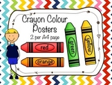 Crayon Colour Posters in English