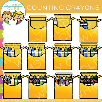 Crayon Counting Clip Art