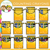 Crayon Counting Clip Art