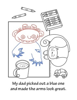 """The Crayon Creature"" A Sequential Story and Worksheet"