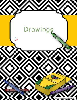 Crayon Design Binder Cover