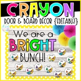 Crayon Door & Board Decor {Editable!}