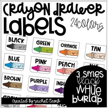 Crayon Drawer Labels