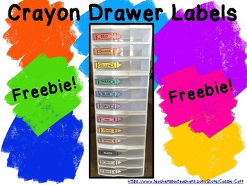 Crayon Drawer Labels
