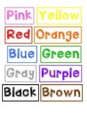 Crayon Drawer Labels (Color Labels)