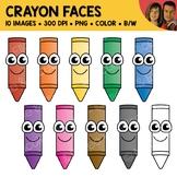 Crayon Face Clipart