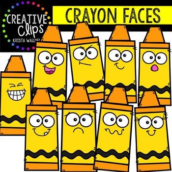 Crayon Faces Mega Bundle School Clipart