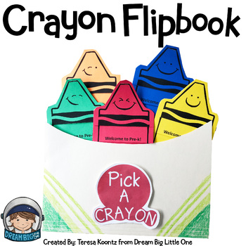 Crayon Flipbook Template for Back to School
