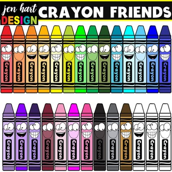 Crayon Friends Clipart