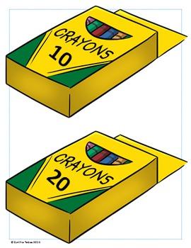 Crayon Fun!  Number Rounding to Tens