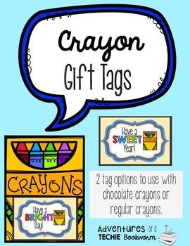 Crayon Gift Tags