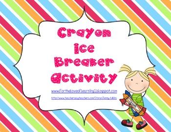 Crayon Ice Breaker Activity