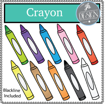 Crayon (JB Design Clip Art for Personal or Commercial Use)