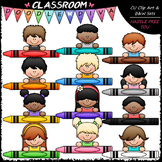 Crayon Kid Toppers - Clip Art & B&W Set