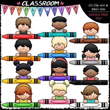 Crayon Kid Page Toppers Clip Art - Toppers Clip Art