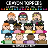 Crayon Kid Toppers Clipart