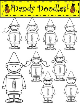 Crayon Kids Clip Art