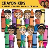 Crayon Kids Clipart