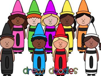 Crayon Kids Digital Clip Art Set