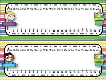 Crayon Kids Editable Nameplates ***FREEBIE***