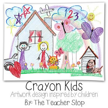 Crayon Kids - Hand Drawn Crayon Artwork Inspired by Children