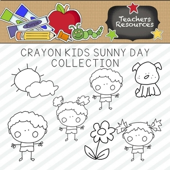 """Crayon Kids """"It's a Sunny Day"""" Clipart Collection 