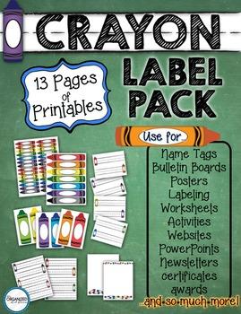 Printable Crayon Label Pack