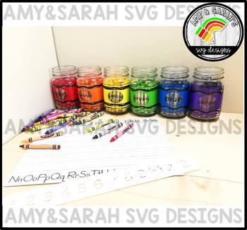 Crayon Label SVG Designs